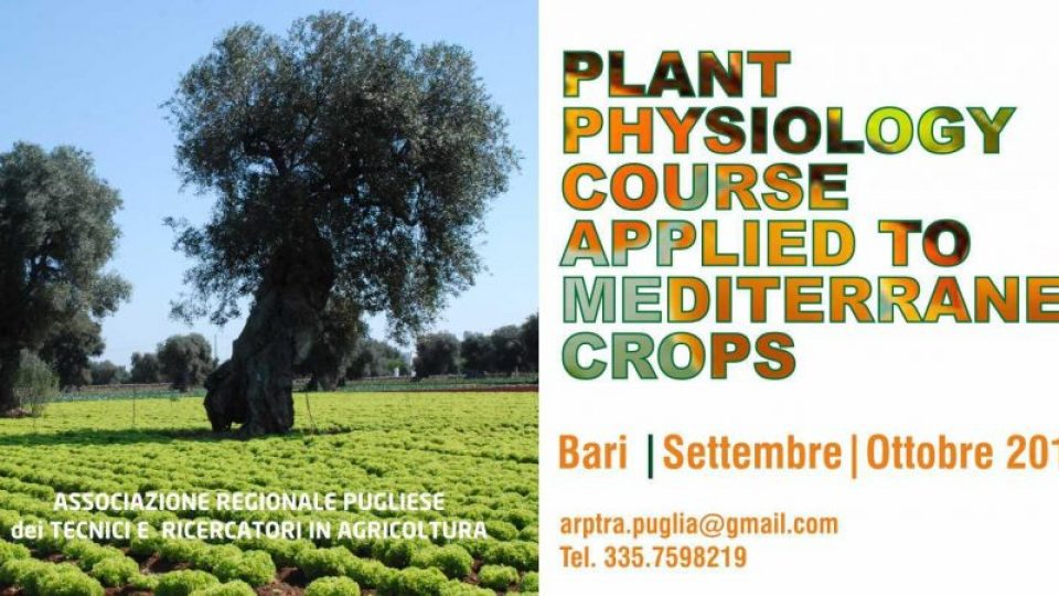Plant Physiology Course Applied to Mediterranean Crops