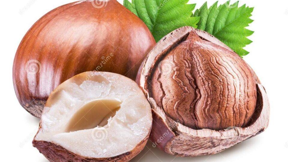 nocciole-nocciolo-della-nocciola-e-foglie-verdi-percorso-di-ritaglio-113442612